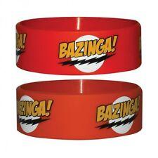 Gummi Armband The BIG BANG THEORY - Bazinga! Red ca65 x 24mm NEU Wristband