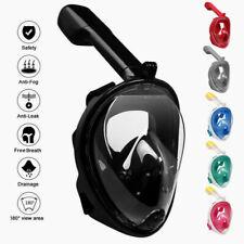 Полная маска для лица шноркель дайвинг плавание свободного дыхания под водой анти туман сухой