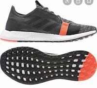 New Adidas SenseBoost Go M [G26942] Running Shoes Dark Grey/Black-Solar Red 9.5