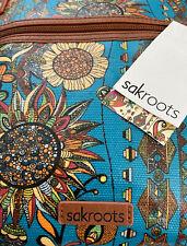 NWT Sakroots Artist Circle Spirit Desert Crossbody Shoulder Bag Teal Vegan Purse
