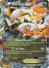 White Kyurem-EX Ultra Rare Pokemon Card BW Boundaries Crossed 103/149