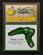 NICK FALDO AUTOGRAPHED AUGUSTA NATIONAL AMEN CORNER PLAQUE