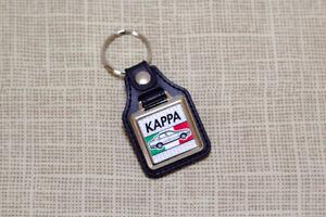 Lancia Kappa Keyring - Leatherette & Chrome Keyfob