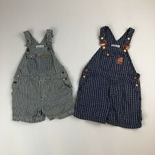 Toddler Baby Boy LOT of 2 GYMBOREE Shorts Overalls Sz M Striped Ants Plaid Sport