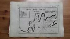 """1780 Roux: Portolano Isola di Kythnos Citno Termia """"l'Isle de Termie"""" Grecia"""