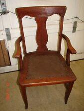 1 Formal Tiger Oak T Back Vase Dining Room Arm Chair