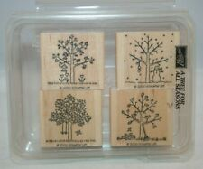 Stampin Up Rubber Stamp Set - A Tree For All Seasons - 4 Stamps - 2000 - Used