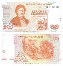 Greece 200 Drachma 1996  P-204 Banknotes UNC