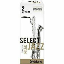 Rico Reed Jazz Select Baritone Saxophone Medium 2m 5 Filed RSF05BSX2M D
