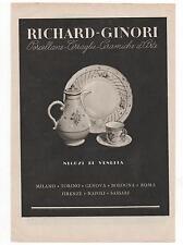 Pubblicità RICHARD GINORI PORCELLANE CERAMICA advert werbung publicitè reklame