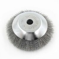 6 Weed Brush Steel Wire Trimmer Wheel Garden LawnMower Grass Cutter Head Tool AU