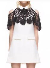 Self Portrait White Cape Lace Dress