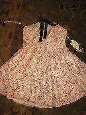 New NWT Rodarte Target white lace babydoll dress w red flowers sz 13
