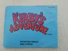 Kirby's Adventure Nes Manual Only