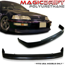 88 89 Honda Civic EF 4D Sedan 3D Hatch-back CS Front Bumper PU Lip URETHANE KIT
