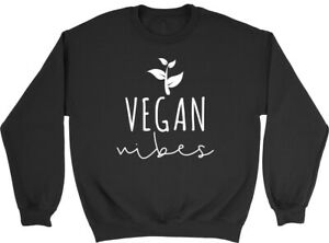 Vegan Vibes Boys Girls Kids Childrens Jumper Sweatshirt