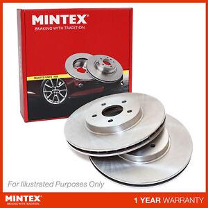 New VW Polo 9N 1.2 12V Genuine Mintex Front Coated Brake Discs Pair x2