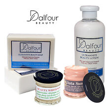 Authentic Dalfour Beauty Face & Body Whitening Set With Excel Creamy & Gluta SPF