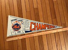 1986 New York Mets National League Champions Pennant Team Scroll