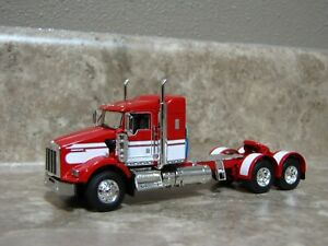 DCP 1/64 Red White Kenworth T800 Semi Truck Farm Toy