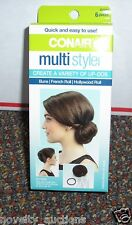 C11 (1) CONAIR  MULTI STYLER BRUNETTE HAIR BUN HOLLYWOOD FRENCH ROLL  UP DOS