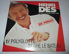 Henri des - polyglotte - cd promo 2 titres 2000