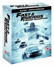 FAST AND FURIOUS 1-8 COMPLETE MOVIE COLLECTION 8 DISC BOX SET BLU RAY REG B NEW