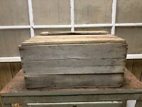 Vintage Wooden Crate Box Old Farm House Decor Rustic Wood
