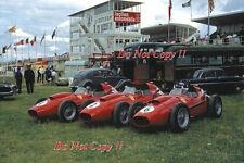Ferrari Dino 246 Team French Grand Prix 1958 Photograph