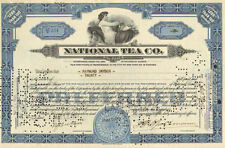 National Tea Co > 1933 Illinois stock certificate
