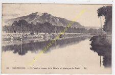 CPA 50100 CHERBOURG Canal de retenue de la Divette & montagne du Roule Edit LL