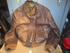 Vintage Schott flight jacket I-S-674-M-S brown leather SZ 50 BROTHERS INC TALON