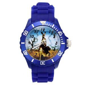 Men Women Fashion Rat Kangaroo Animal Pattern Jewelry Silicone Strap Wrist Watch