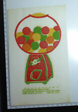 Vintage 1970s Iron On Transfer Sheet - Gumball Machine