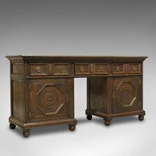 Antique Pedestal Desk, English, Oak, Georgian, 18th Century, C.1800