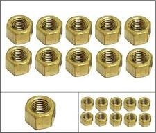 LAND ROVER SERIES Exhaust Manifold BRASS NUTS x 10