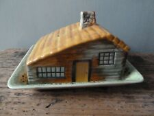 Vintage Shorter & Son Hand Painted Cottage Lidded Cheese Dish