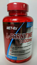 Met-Rx L-Carnitine 1000mg Caplets 180 Endurance Support Recovery 07/2020