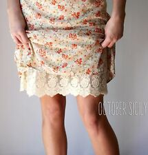 Lace Full Slip Dress Skirt Extender, *Style 1* 5 Colors, S-3XL, Extend, modest