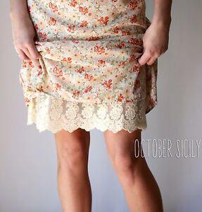 Lace Full Slip Dress Skirt Extender, *Style F1* 5 Colors, S-4XL Regular & Petite