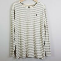 G STAR RAW Mens Size XL Phaen Stripe L/S Tee Shirt