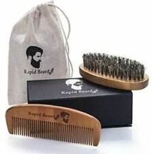Organic No Snag Handmade Anti Solid Brush Comb Beard Kit Wood Static Men Fashion