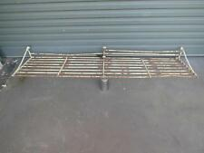 Industrial VINTAGE X Large RAILWAY Shelf RACK Antique BRASS Steel OLD QZZQ used