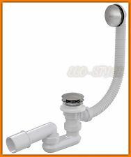 AlcaPLAST A504KM Bath click/clack Ablaufgarnitur für Badewannen Ablauf Siphon