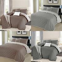 Geometric Christian Duvet Quilt Cover Curtain Pair Bedspread Bedding Set Grey UK