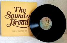 BREAD-THE SOUND OF:20 FINEST SONGS-1977-VINYL-TEXTURED SLEEVE-David Gates-EX/EX