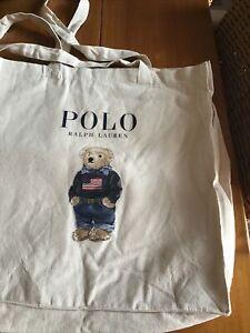 Ralph Lauren Polo Bear Canvas Tote Shopper Bag