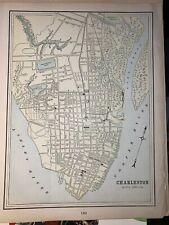 1899 George F Cram Atlas Old Map Page Charleston SC 14 x 11 Atlanta GA