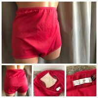 VTG BALI Panties RED Butter Soft Nylon Spandex GUSSET Hi-Cut Panty Briefs 2XL/9