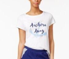 Nautica Graphic-Print Pajama Top ONLY White X-Small NWT